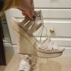 Alexandre Birman wedge sandal heels.